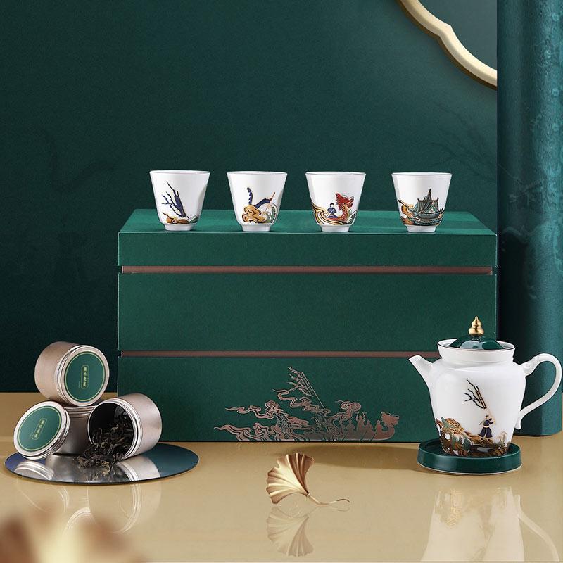 端午节馈赠客户茶礼,文创礼品龙池竞渡茶具