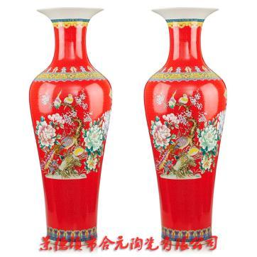 酒店开业花瓶礼品 酒店大堂装饰落地花瓶