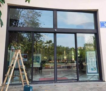 海口自动玻璃玻璃门制作厂家/海口自动平移门公司
