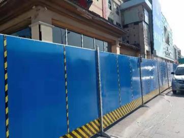 北京围挡厂家的围挡产品表面光洁整滑颜色柔和