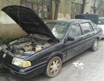 回收报废车进行报废