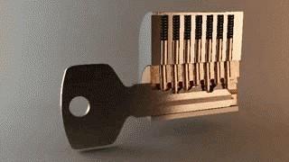 一把旧钥匙开了4把新锁?