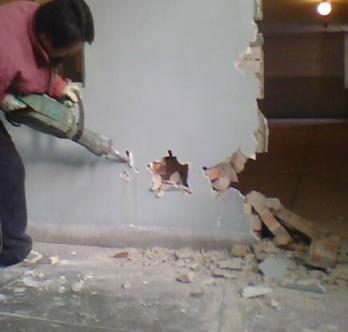 砸墙是一个技术活