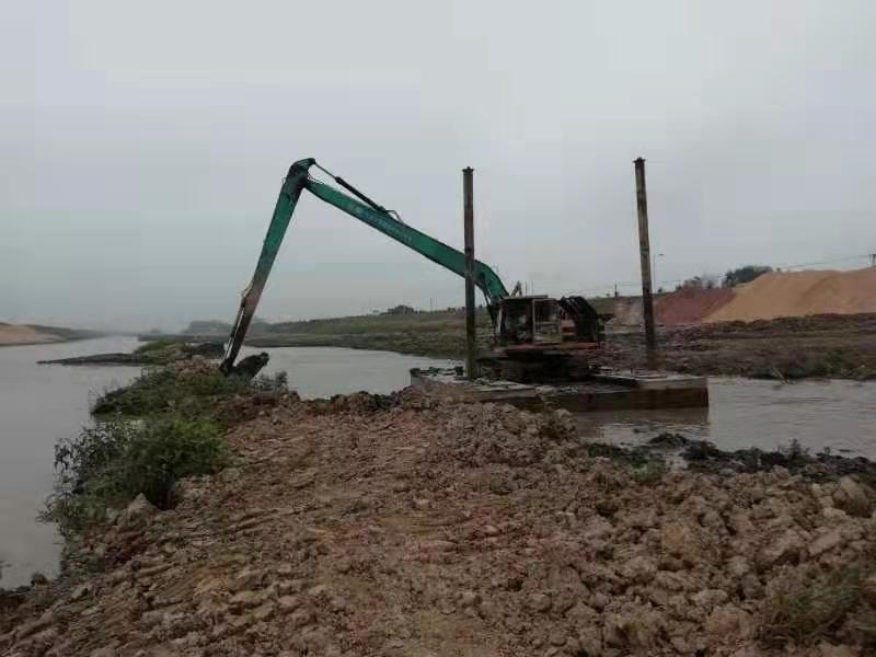 江门加长臂挖掘机出租 加长臂挖掘机施工