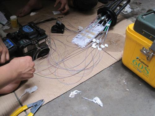 中新安防公司的光纤熔接团队专业