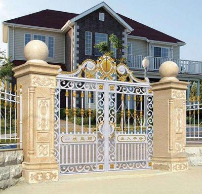 惠州专业安装庭院铁艺大门公司
