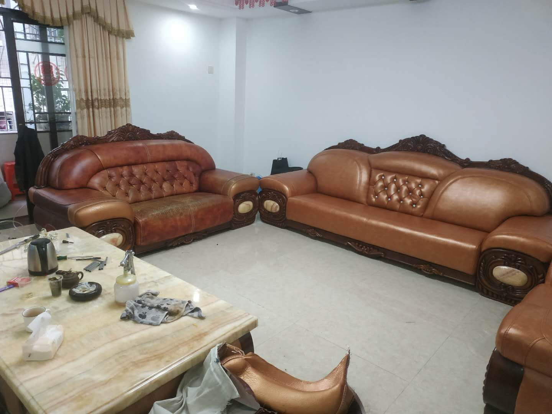 惠城皮沙发换皮怎么做