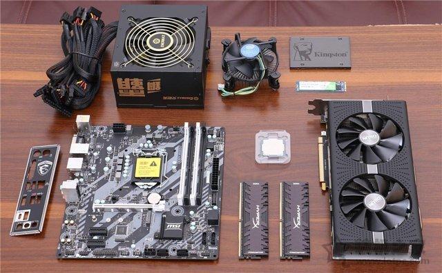 安装内存硬盘、电源方法