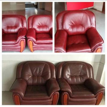 真皮沙发怎么翻新换色