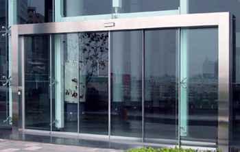 保定电动玻璃门_钢化玻璃自动门安装