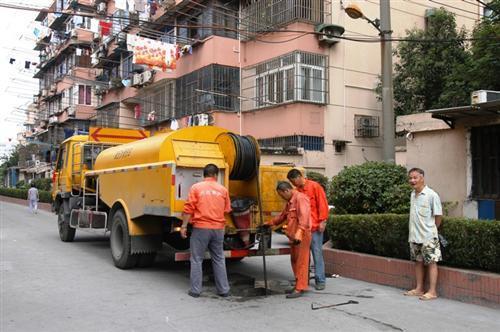 管道疏通施工过程