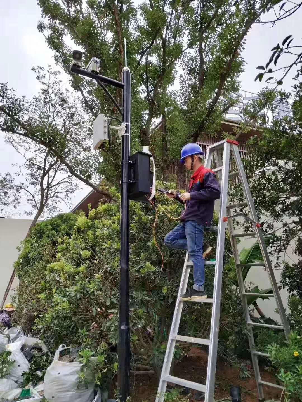桂林安防摄像头立杆安装