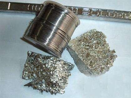 废旧金属环保锡和含银锡区分