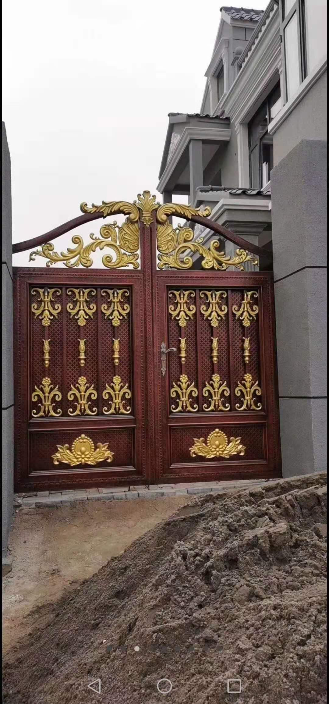 西宁铝艺别墅大门安装